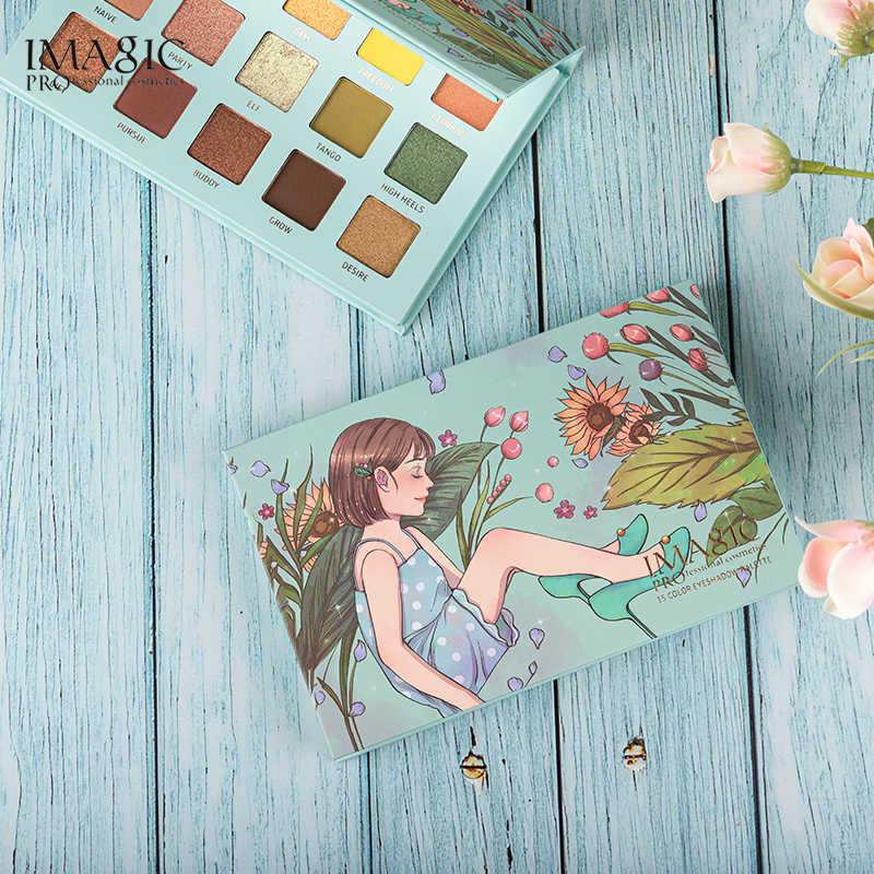 IMAGIC Glitter Oogschaduw Palet 15 Kleuren Matte Waterdichte Make-Up Palet Jeugd Memery Serie Droom Oogschaduw