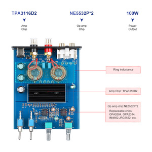 Image 4 - مضخم صوت AIYIMA 100W TPA3116D2, مكبرات صوت رقمية أحادية من الفئة D ، مضخم صوت منزلي ، تردد كامل