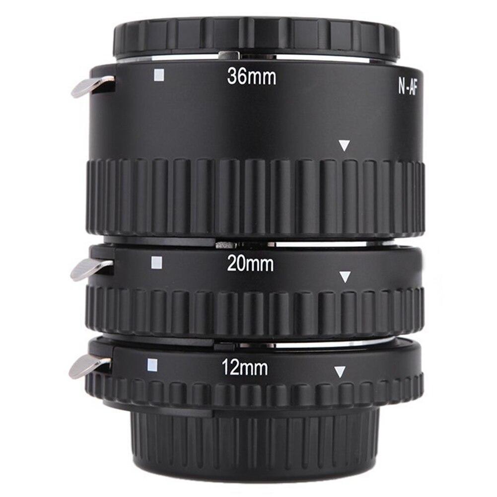 Tube d'extension micro-éperon Macro anneau adaptateur d'objectif Portable photographie réglable DSLR caméras de mise au point automatique pour Nikon D7100 D800