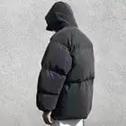 Зимняя куртка мужская Толстая Радужная Светоотражающая Куртка парка пальто Модная молодежная хип хоп Свободная куртка уличная верхняя одежда мужская одежда - 4