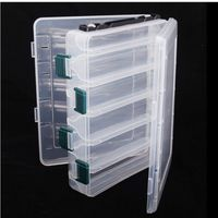 Double Layer PVC Fishing Box Bait Storage Case Fishing Lure Box Fishing Tackle Tool for Carp Fishing Tackle Boxes