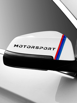 M Performance Motorsport Power car rearview mirror sticker for BMW e90 e46 f30 f10 x1 x3 x5 x6 1 2 3 4 5 6 7 series car decal image