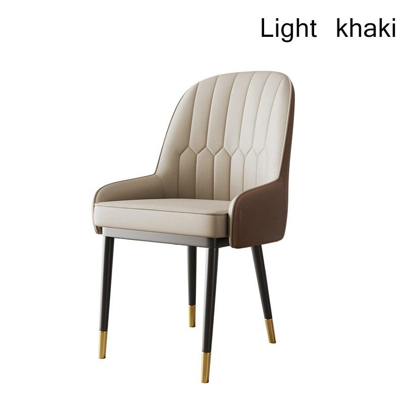 Скандинавский Инс металлический пластиковый стул ресторанный стул ресторан офисное собрание компьютерное кресло семейная спальня обучающее кресло - Цвет: Light khaki