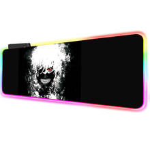 Tokyo Ghoul Large LED Light RGB Waterproof Gaming Mouse Pad USB Wired Gamer Anime Mousepad Mice Mat 7 Colors for Computer PC