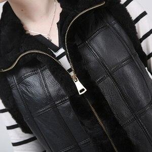 Image 4 - Vestes cisaillées pour femmes vestes pour femmes garder au chaud gilet en peau de mouton naturel à la mode pour les femmes