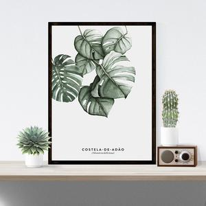 Image 3 - Elegant Green Plant Printing Stylish Picture Home Hotel Decoration Gift (without Frame)