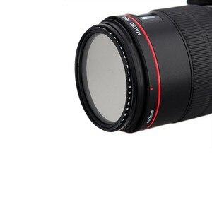 Image 5 - 37 49mm 52mm 55mm 58mm 62mm 67mm 72mm 77mm 82mm 86 משתנה מדעך ND מסנן צפיפות ניטראלי ND2 400 עדשת מסנן עבור Canon ניקון