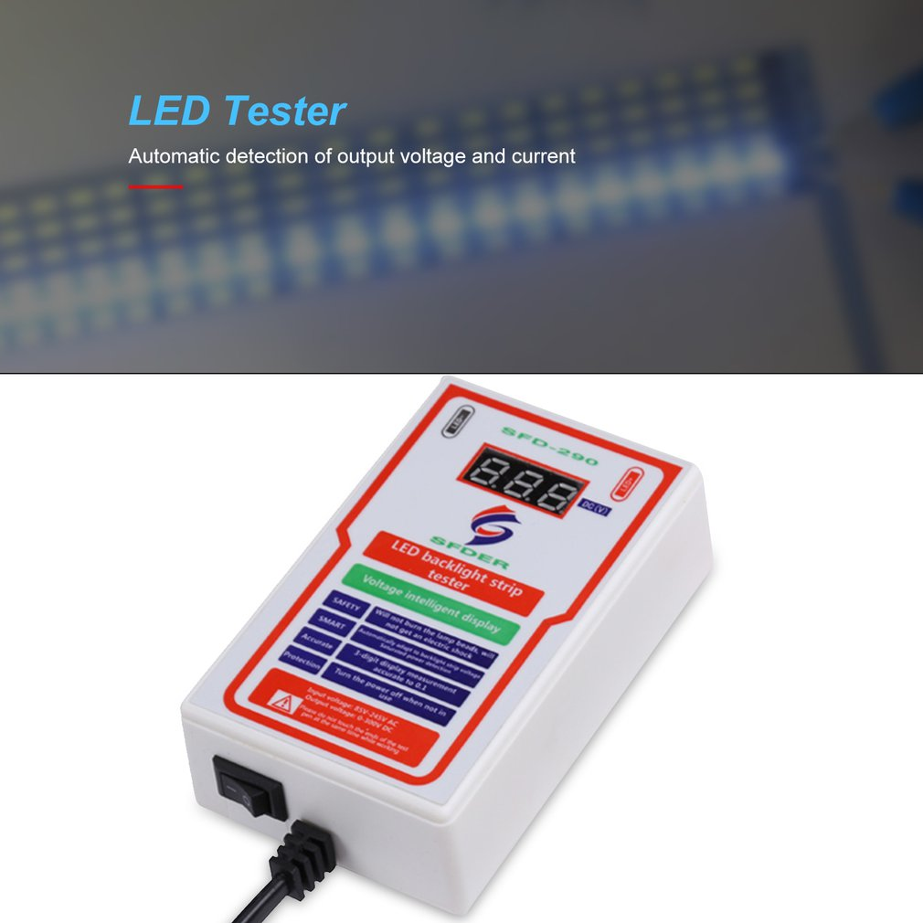 0-300V Output LED Tester LED TV Backlight Tester Multi-Function LED Strip Bead Test Tool Detector Repair Tools