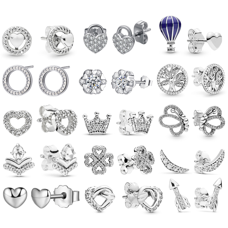 HOMOD Classic Princess Crown Stud Earrings For Women Romantic Love Stud Earrings With Girl Valentine's Day Present