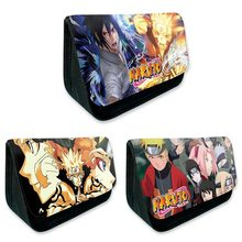 Anime Naruto School Pencil Bag Pencil Case Makeup Bag Zipper Pouch Students Stationery Pouch Office Supplies(China)