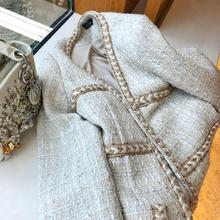Leisure Jacket Autumn Jackets Women 2019 New Style Temperament Small Fragrance Tweed Short Coat