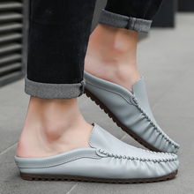 Harajuku Hot Sale Men Shoes Soft Leather Lazy Shoes Summer Light Weight Walking Men Casual Shoes Loafer Slip-on Flats Loafers все цены