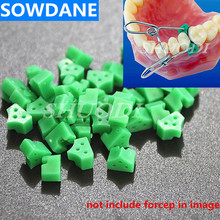 40 Pcs Add-On Autoclavable Silicon Rubber Elastic Wedges Dental Material Oral Care ( without the clip in image)