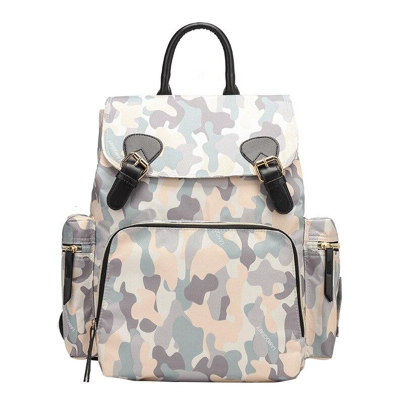 Fashion Nursing Backpack Large Capacity MOTHER'S Bag Nylon Waterproof Bag Korean-style WOMEN'S Bag Nursing Travel Bag