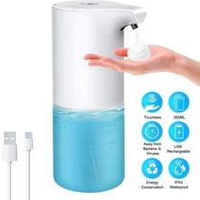 AIRMSEN Touchless Automatic Soap Dispenser USB Charging Smart Foam Machine Infrared Sensor Foam Soap Dispenser Hand Sanitizer