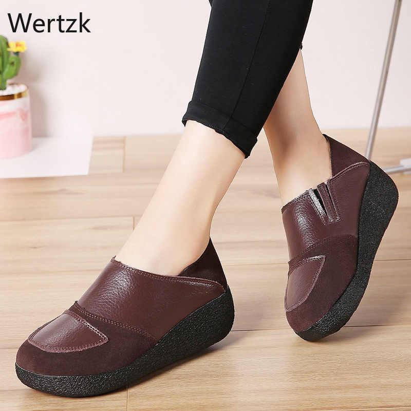 Женская обувь Осенняя обувь на толстой подошве, увеличивающая рост модная повседневная обувь на мягкой подошве Нескользящая модная обувь в стиле ретро, новинка, A844
