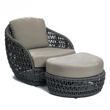 Freeshipping leżak na zewnątrz sofa rattanowa leżąca łóżko balkon willa na zewnątrz PU rattanowe krzesła zestawy tanie tanio Z tworzywa sztucznego Szezlong krzesło plażowe meble zewnętrzne Nowoczesne