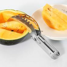 muti function fruit slicer melon watermelon slicer melon cutter practical fruit kitchen tool Cut Watermelon Tool Splitter Stainless Steel Creative Multi-Function Fruit Knife Melon Cutting Machine Fruit Take Meat Slicer