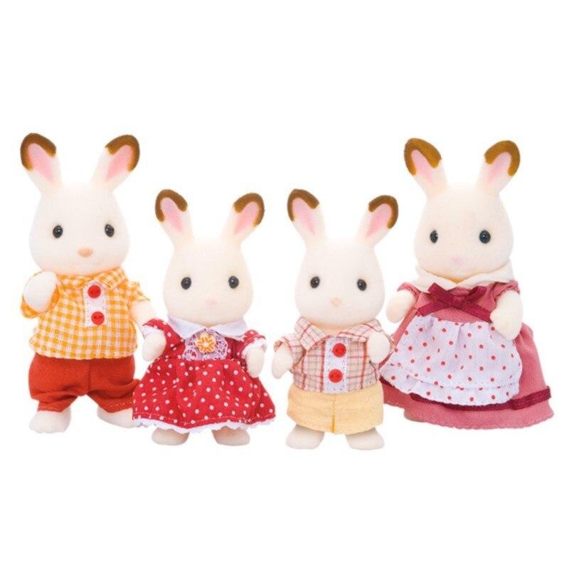 4150 de muñecas de la familia del conejo del Chocolate juguetes de familia de Silvestre
