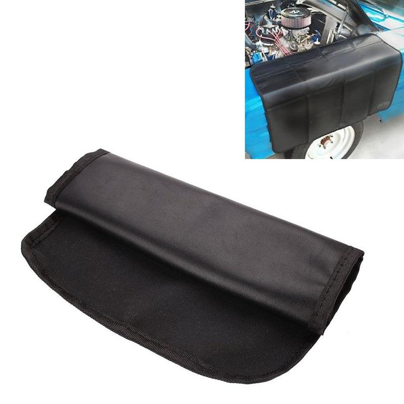 32 X 24cm/80x62cm/110x45cm Black Magnetic Fender Cover Vehicle Truck Mechanic Paint PU Leather Protector Pads Work Mat