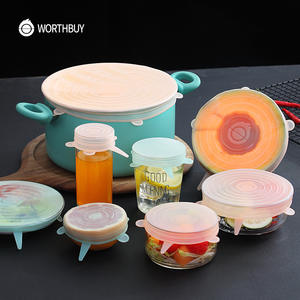 WORTHBUY Stretch-Lids-Caps Pot Cover Cookware Kitchen-Accessories Universal Food Silicone