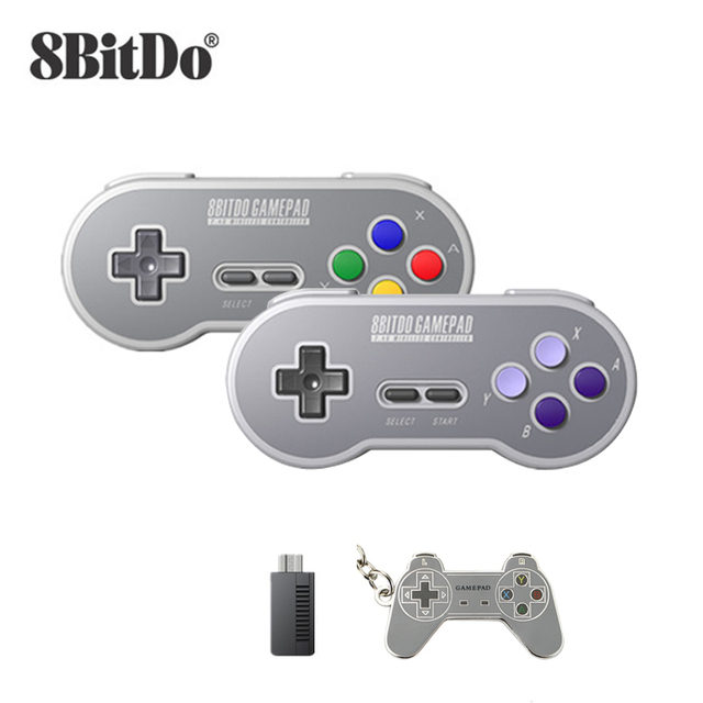 8Bitdo SN30 2.4G and SF30 2.4G Controller Wireless Gamepad for SNES and SFCfor Windows Android PC Mac