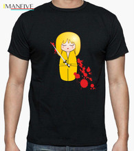 Kokeshi Beatrix (Kill Bill) 100% cotton Funny print men T shirt short sleeve  Vintage tshirt cool O-neck top tee shirts