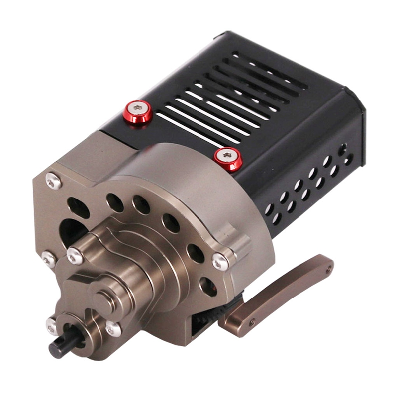 SCX10 CNC Metal Front Motor Gearbox Transmission Box For Axial SCX10 90046 1/10 RC Crawler Car Accessories