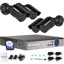 ระบบรักษาความปลอดภัยกลางแจ้ง กล้องวงจรปิดชุดเฝ้าระวังชุดกล้อง DVR 1080N