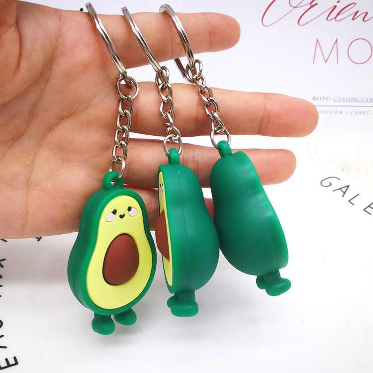 10 ซม.น่ารัก Avocado พวงกุญแจตุ๊กตา Plush ของเล่นเต็มไปด้วยตุ๊กตา Key แหวนหมอนเด็กเด็กคริสต์มาสของขวัญเด็กของเล่นสาว