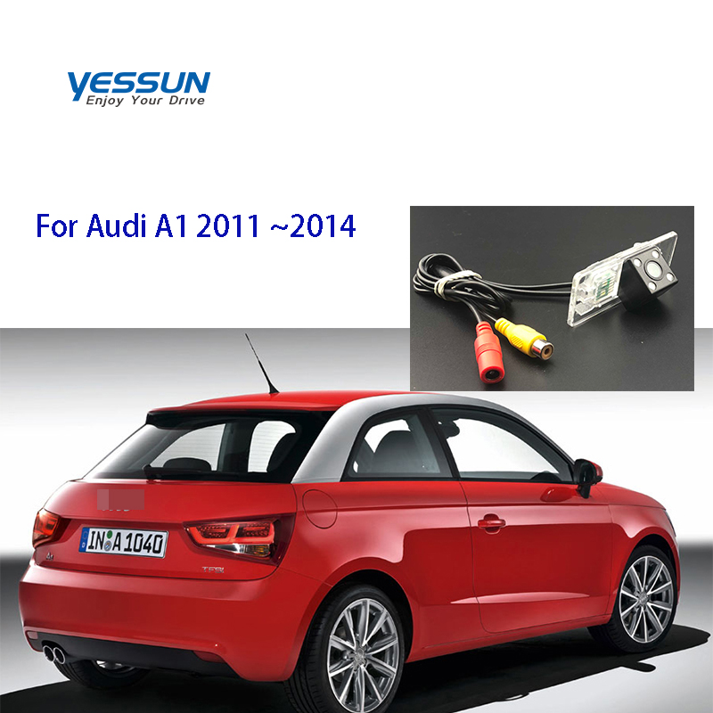 Yessun License Plate Rear View Camera 4 LED Night Vision 170 Degree HD For Audi A1 2011~2014