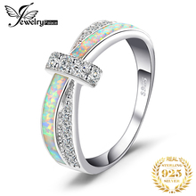 JewelryPalace Created White Opal Ring 925 Sterling Silver Rings for Women Stackable Ring Band Silver 925 Jewelry Fine Jewelry цена 2017