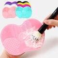 1 шт. силиконовая основа для макияжа кисть скребок кистей для макияжа коврик для очистки мытье кистей для макияжа гель щетка для чистки мат р...