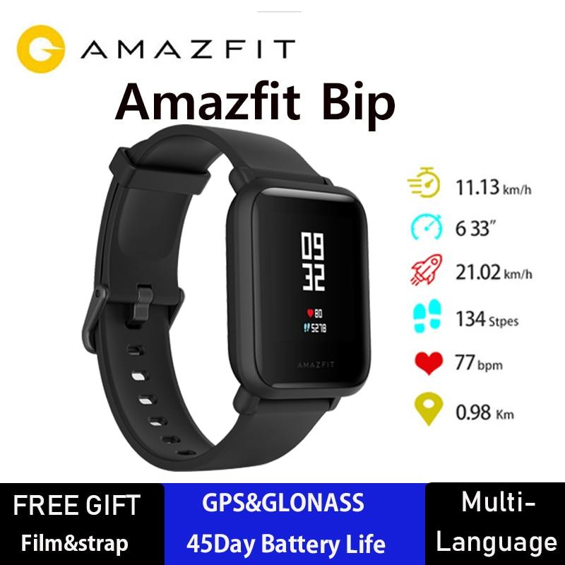 Versão internacional Amazônia Bip Huami GPS Smartwatch Relógio Inteligente iOS Android 45 Dias IP68 Da Bateria Original