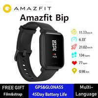 Wersja międzynarodowa Amazfit Bip smart watch Huami GPS Smartwatch Android iOS 45 dni pracy IP68 oryginalny