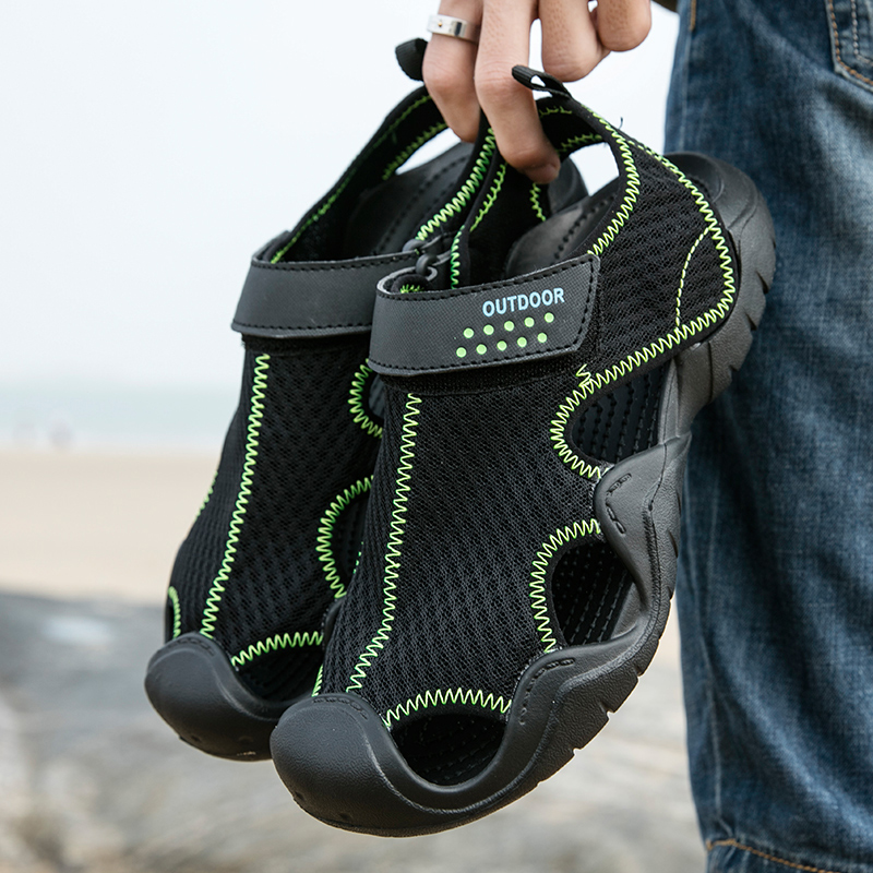 Summer Fashion Breathable Sandals Thick Sole Close Toe Shoes For Hiking Wading Fishing Beach