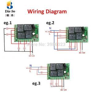 Image 5 - 433mhz universal sem fio interruptor de controle remoto dc 12v 4ch relé módulo receptor rf 4 botão controle remoto abridor da porta garagem