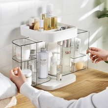 Large Capacity Cosmetic Organizer Dustproof Makeup Storage Box Organizador De Maquillaje Desktop Clear Rangement Makeup Holder