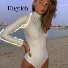 2020 Reflective Body For Women Long Sleeve Bodysuit Women's jumpsuit Turtleneck