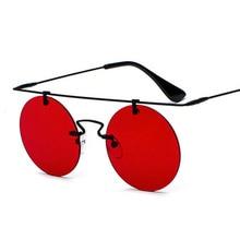SHAUNA Super Light Weight Women Rimless Round Sunglasses Fas