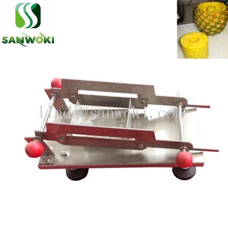 Prensa de mão abacaxi faca abacaxi máquina de raiz de corte ananas descascador máquina de cortar abacaxi ananas máquina de corte em cubos