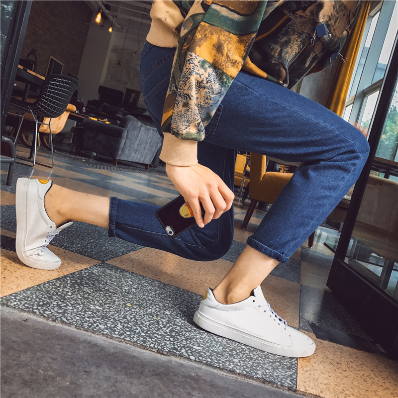 New Products Men Medium Waist Casual Jeans Teenager Men's Straight-Cut Cowboy Trousers Popular Korean-style Men'S Wear