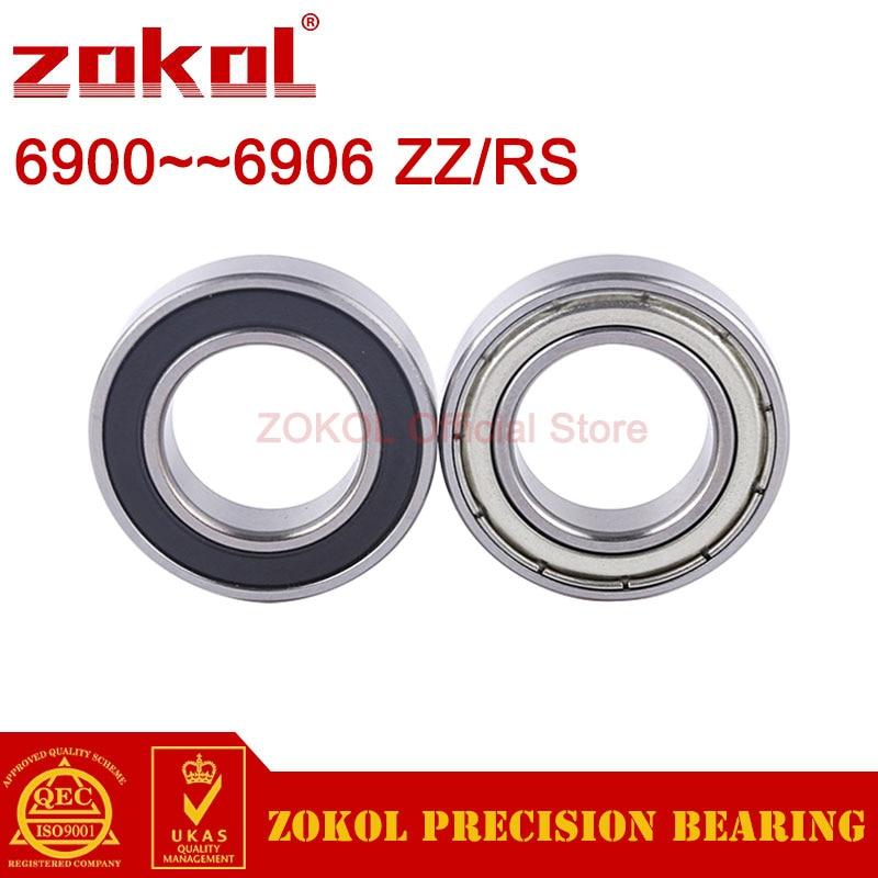 ZOKOL 6900 6901 6902 6903 6904 6905 6906 ZZ Z RS 2RS RZ Thin Wall Bearing Deep Groove Ball Bearings