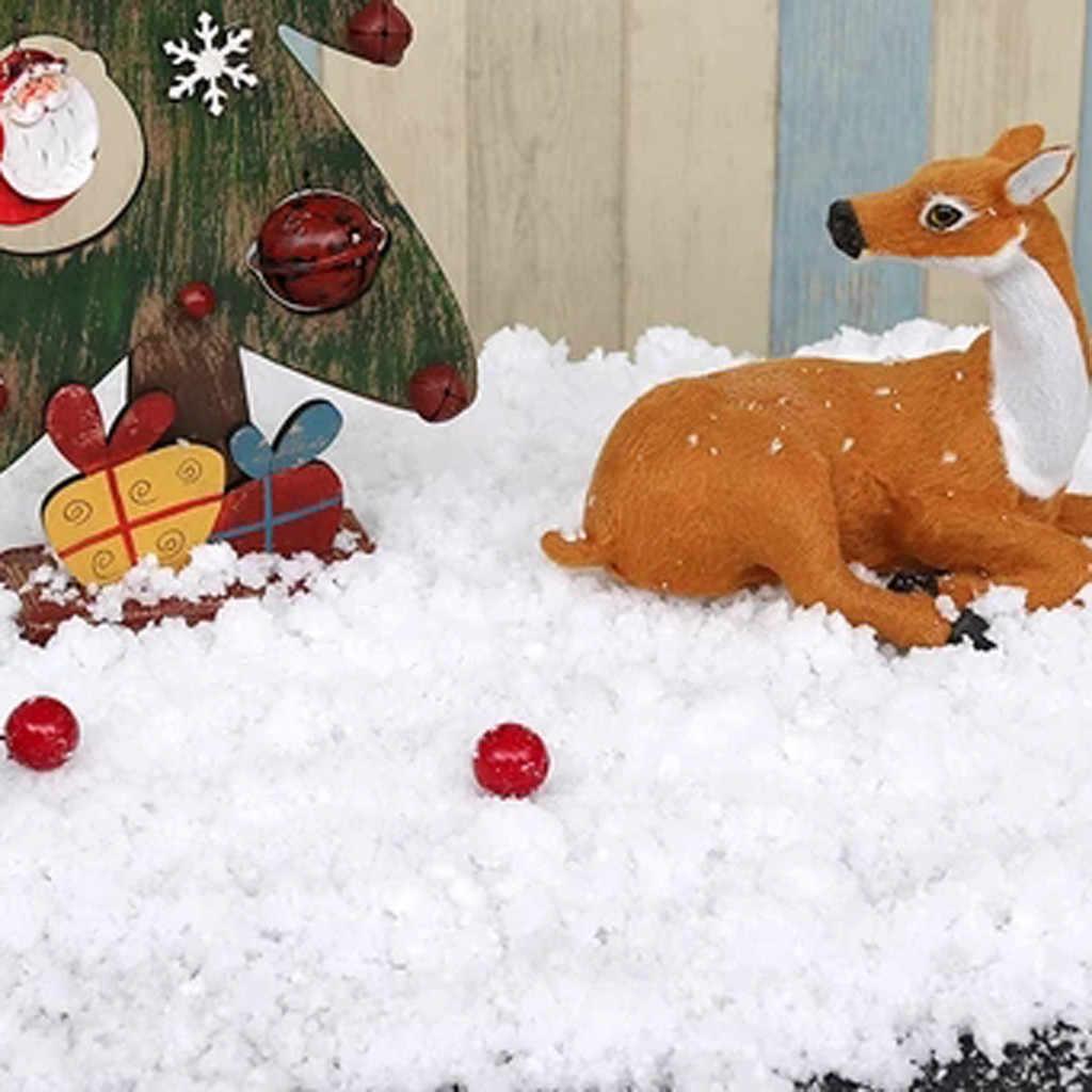 Magie Weihnachten Schnee Kunststoff Simulation Trockenen Schnee Pulver Weihnachten Schneeflocke Diy Weihnachten Baum Rock Weihnachten Urlaub Partei 2020