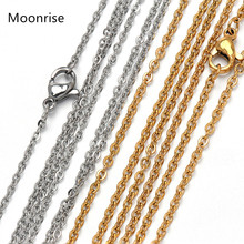 5Pcs/Lot Stainless Steel Chain Necklace Cable Chain Necklace with Lobster Clasp for Women DIY Jewelry Making