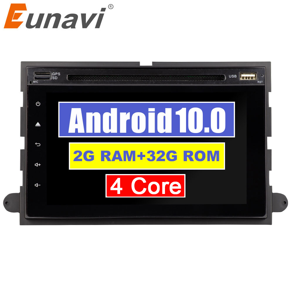 Eunavi 7 inch 2Din Android 10 Car DVD for <font><b>Ford</b></font> Focus Fusion Expedition Explorer F150 F350 F500 <font><b>Escape</b></font> Edge Mustang Radio IPS RDS image