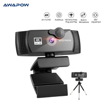 Webcam 4K Autofokus Webcam PC Computer USB Verbindung Webcam 2K Volle HD 1080P Mit Mikrofon Webcam Verwendet für Video Conferencin
