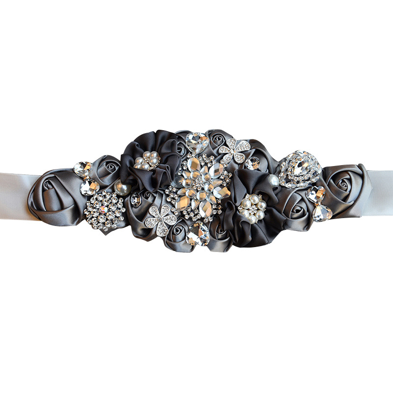 Bride Accessories 641 Wedding Dress Belt Chain Belt Girdle Entirely Handmade With Man-made Diamond Ribbon Ribbon Wedding Decorat