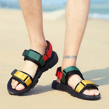 UNN Teenager Gladiator Sandals Casual Shoes Summer New Men Sandals Open Toe Platform Outdoor Beach Sandal Rome Footwear Black 2017 new fashion hgh top women sandals rome styles open toe summer beach shoes slip on female buckles sandals