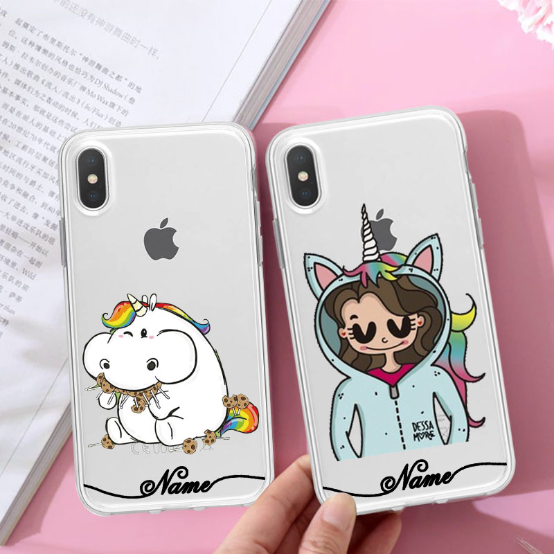 Custom name unicorn iPhone X case